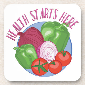 Health Starts Here Drink Coaster
