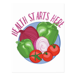 Health Starts Here Postcard
