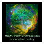 Health, Wealth & Happiness Poster