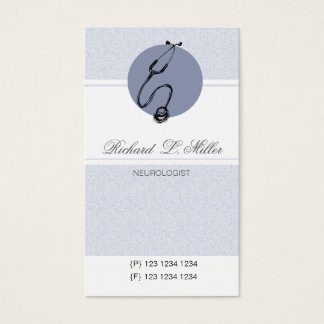 Healthcare Appointment Blue Doctor Stethoscope Business Card