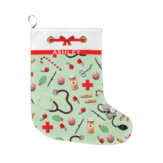 Healthcare Holidays Large Christmas Stocking