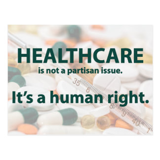Healthcare is a human right. postcard