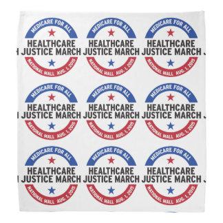 healthcare justice march bandana