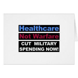 Healthcare Not Warfare Card