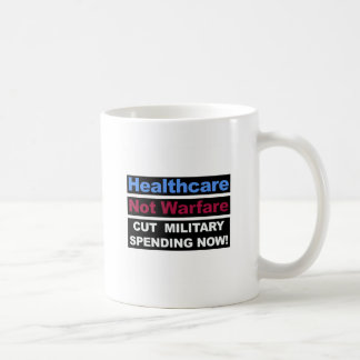 Healthcare Not Warfare Coffee Mug