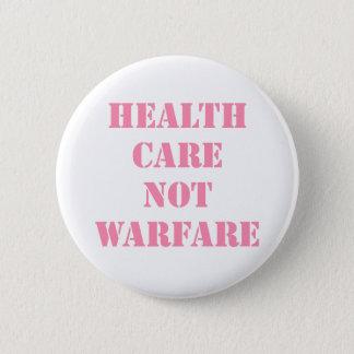 Healthcare Not Warfare Pink 2 Inch Round Button