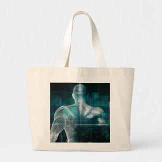 Healthcare System Network as a Digital Technology Large Tote Bag
