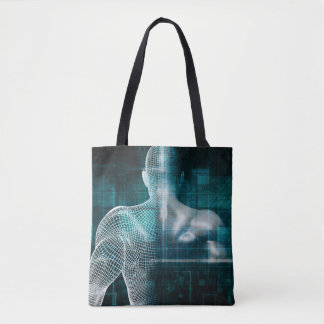 Healthcare System Network as a Digital Technology Tote Bag