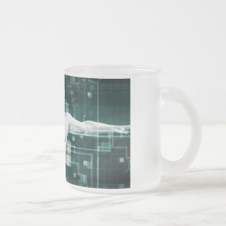 Healthcare Technology and Medical Scan Frosted Glass Coffee Mug
