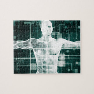 Healthcare Technology and Medical Scan Jigsaw Puzzle