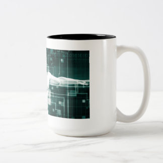 Healthcare Technology and Medical Scan Two-Tone Coffee Mug