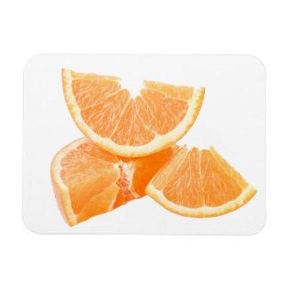 Healthful cut oranges rectangular photo magnet
