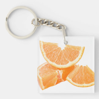 Healthful cut oranges Single-Sided square acrylic keychain