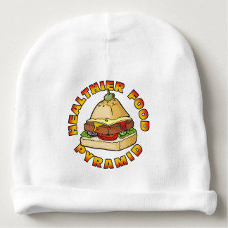 Healthier Food Pyramid Baby Beanie