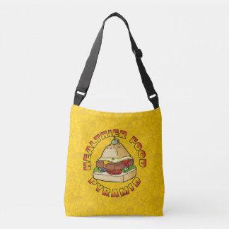 Healthier Food Pyramid Crossbody Bag