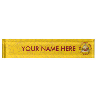 Healthier Food Pyramid Desk Name Plate