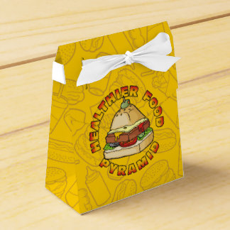 Healthier Food Pyramid Party Favor Boxes