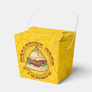 Healthier Food Pyramid Wedding Favor Boxes