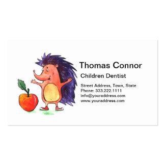 Healthiest Hedgehog Children Dentist Business Card