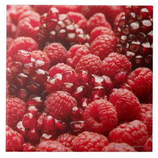 Healthy and nutritious red berries ceramic tiles