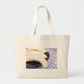 Healthy and useful dessert of sweet yellow melon large tote bag