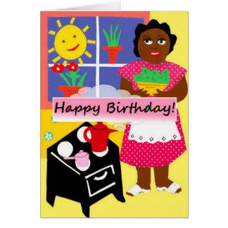 Healthy birthday collards greeting card