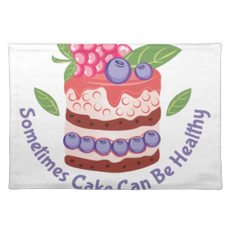 Healthy Cake Place Mats