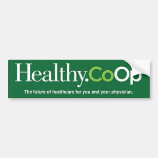 Healthy.Coop green bumpersticker Bumper Sticker