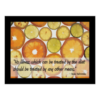 Healthy Diet to Treat Disease Poster