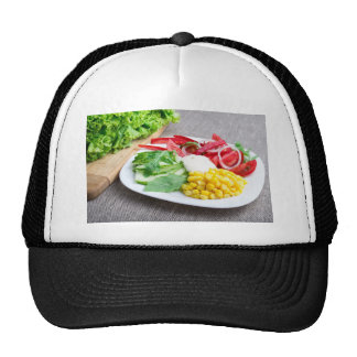 Healthy dish made from natural  ingridients trucker hat