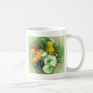 Healthy eating background coffee mug