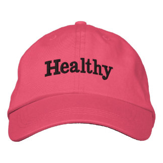 HEALTHY EMBROIDERED HAT