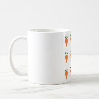 Healthy Food- Carrot Cartoon Print Classic White Coffee Mug
