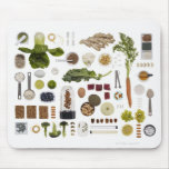 Healthy food grid on a white background. mouse pads
