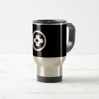 Healthy frame of slanted square of circle travel mug