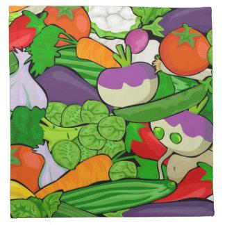 Healthy Fresh Vegetables Medley Napkin