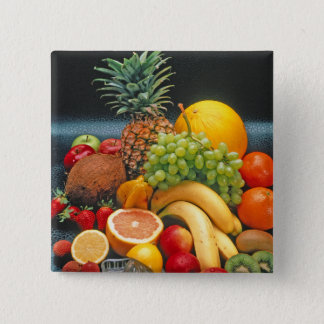 healthy fruit 2 inch square button