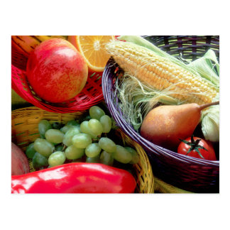 Healthy Fruit and Vegetables Postcard