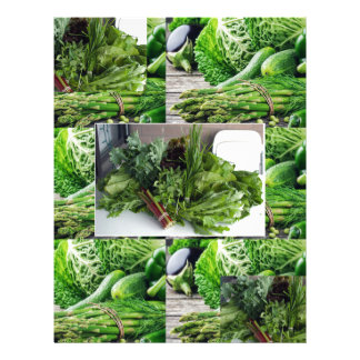 Healthy green leafy vegetable salads chefs cuisine customized letterhead