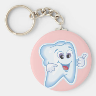 Healthy Happy Tooth Keychain