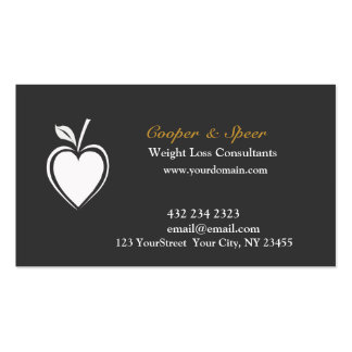 Healthy Heart  Dietitian Nutritionist Business Business Cards