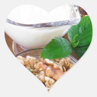 Healthy ingredients for breakfast heart sticker