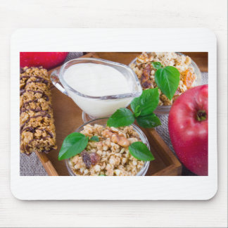 Healthy ingredients for breakfast mouse pad