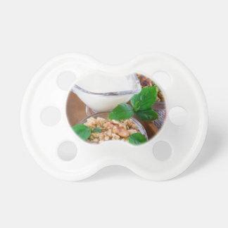 Healthy ingredients for breakfast pacifier