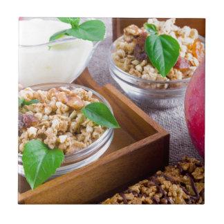 Healthy ingredients for breakfast tile