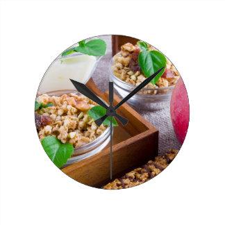 Healthy ingredients for breakfast wallclock