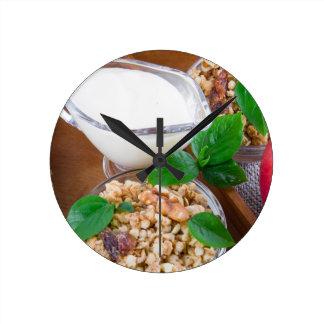 Healthy ingredients for breakfast wallclocks