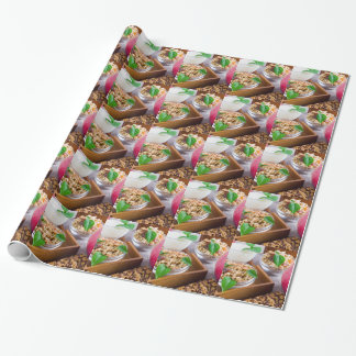 Healthy ingredients for breakfast wrapping paper