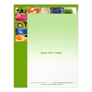 Healthy Life Nutritionist Green Design Letterhead