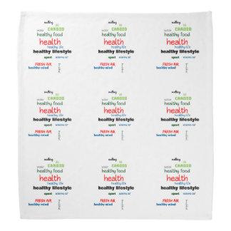 Healthy Lifestyle Word Cloud Bandana